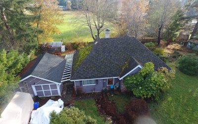 Before and After: Climate wear on roofs can cause significant damage if left alone.