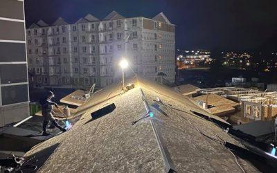 Roofing in the dark in Kelowna