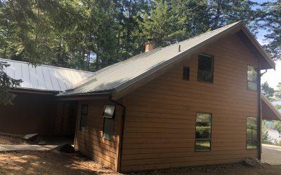 Prolock metal roof job on Hornby Island